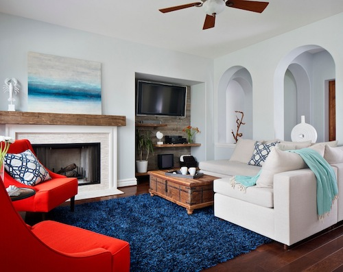 Vivid colors can change a room's overall appeal