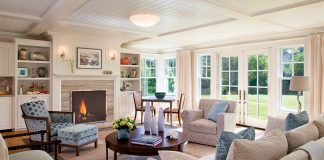 Cape Cod beach house interior