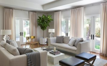 The soothing beauty of gray and cream interior
