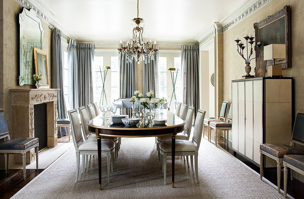 Cool and sophisticated gray and cream interiors for your for Pictures of formal dining rooms