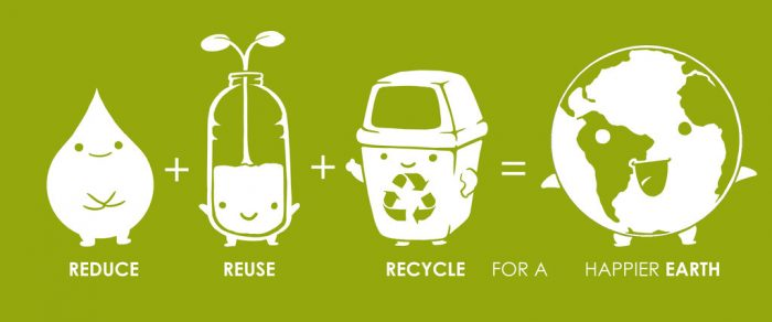 Reduce Reuse Recycle for a happier planet