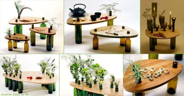 Recycling and Reusing Bottles, Plants and Wood