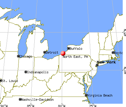 map of North East, PA (http://www.city-data.com)