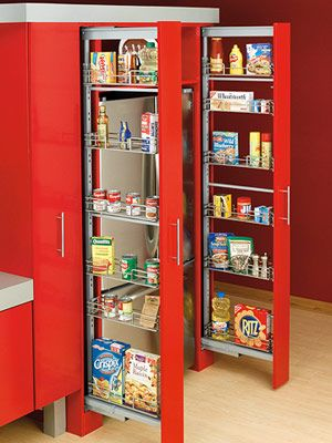 Beside Fridge Storage (www.modernhomestorage.com)