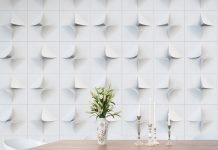 V2 PaperForms modular recycled wall tiles add multi-faceted dimension