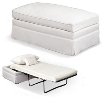 The Ottoman Bed - Space Saver Genius! (http://www.averyboardman.com)