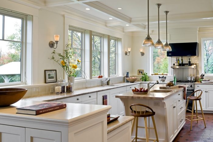 Sconce lighting is perfect for the kitchen