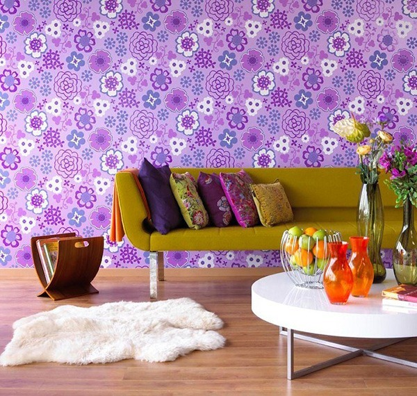 Bold wallpaper makes this room pop