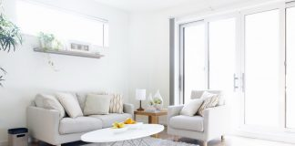 soothing white living room