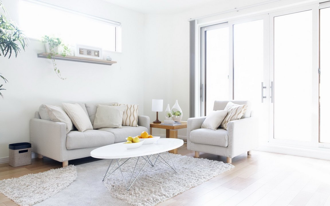 Soothing White Living Room Part 7
