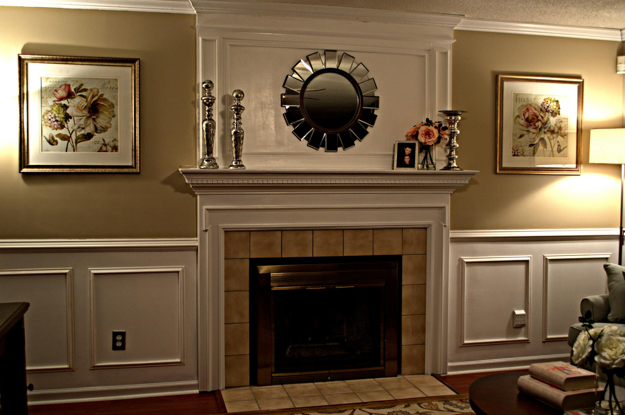 Update your living room with a fireplace makeover for How to makeover your living room