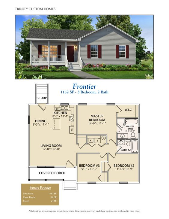 25 impressive small house plans for affordable home for Cost to build a 576 sq ft house