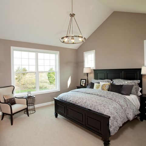 Khaki & black pair elegantly in the master bedroom. http://www.houzz.com