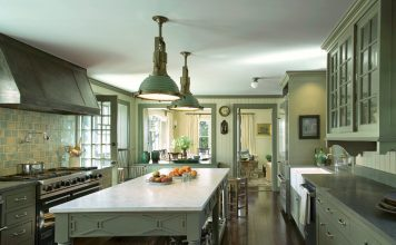 khaki green kitchen