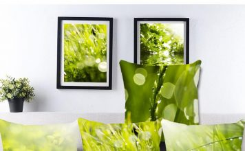greenery accent pillow
