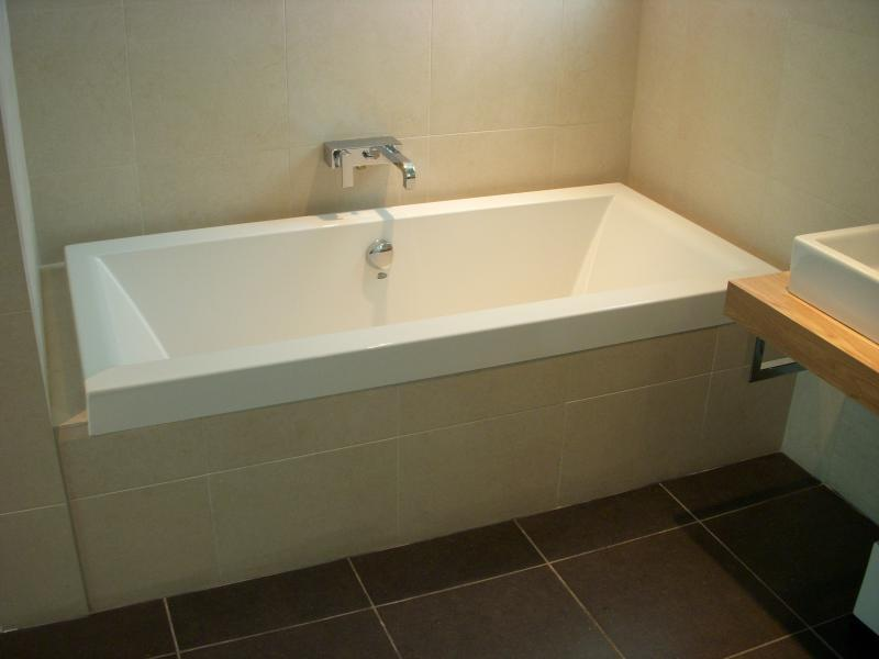 Narrow Soaking Tub For A Smaller Bathroom.
