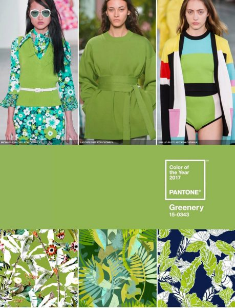 The leader in 2017 interior trends is Pantone's Greenery