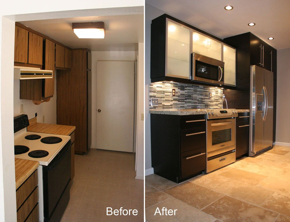 10 small kitchen makeovers small kitchen remodels kitchen for Kitchen upgrades