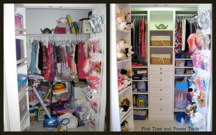 staged, organized closet