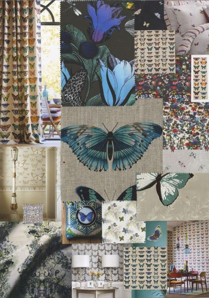 Fabrics alight with fanciful butterflies