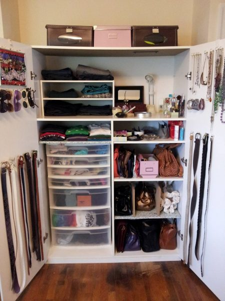 Use storage cubbies to keep organized.