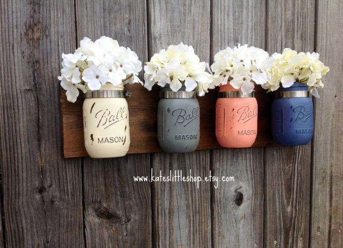 In fact, you can chalk paint mason jars to add color.