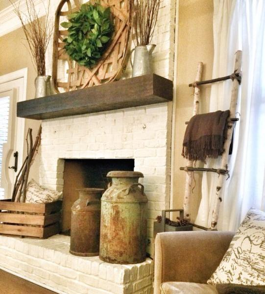 Because you can make the mantel a focal point, group charming accessories nearby.