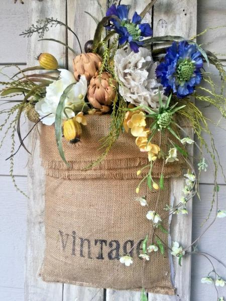 Of course, you get bonus points if you can work a burlap sack in with your floral arrangement.