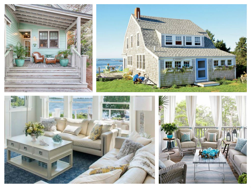 Images of coastal cottage living rooms