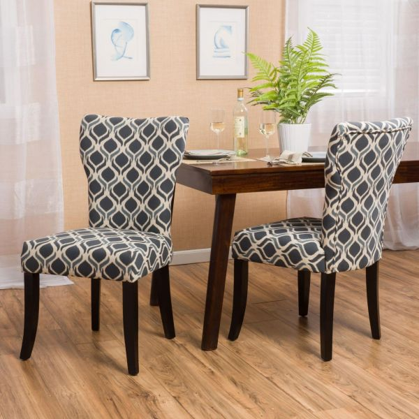 See how a geometric print makes this a statement in a neutral room?