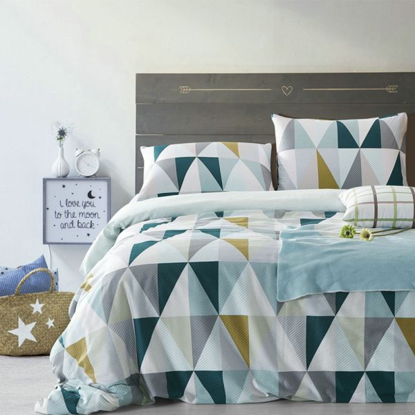 Because it's gender neutral, geometric prints are useful in any teen's bedroom.