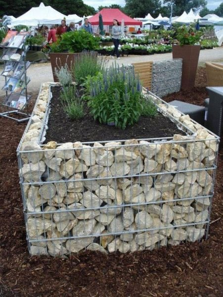 Upgrade from basic to gabion styling for your container gardens.