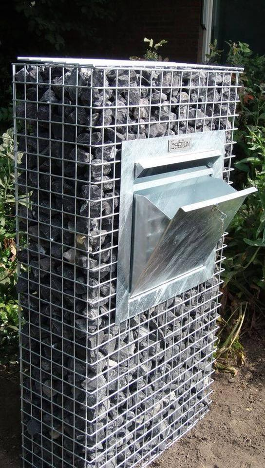 Use gabion styling to surround your mailbox.
