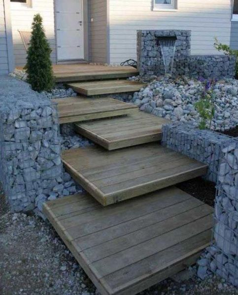 Or, build sturdy and decorative patio steps.