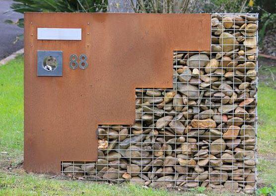 In addition, gabion walls can be at attractive feature wall.
