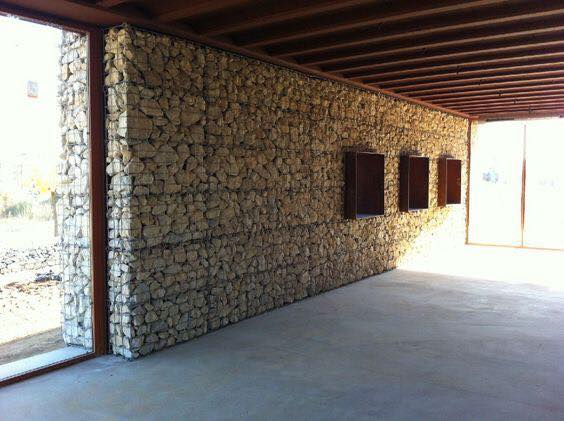 gabion walls - Re-think your home's exterior.