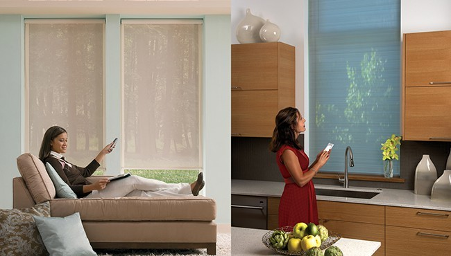 Automated Living Room Blinds