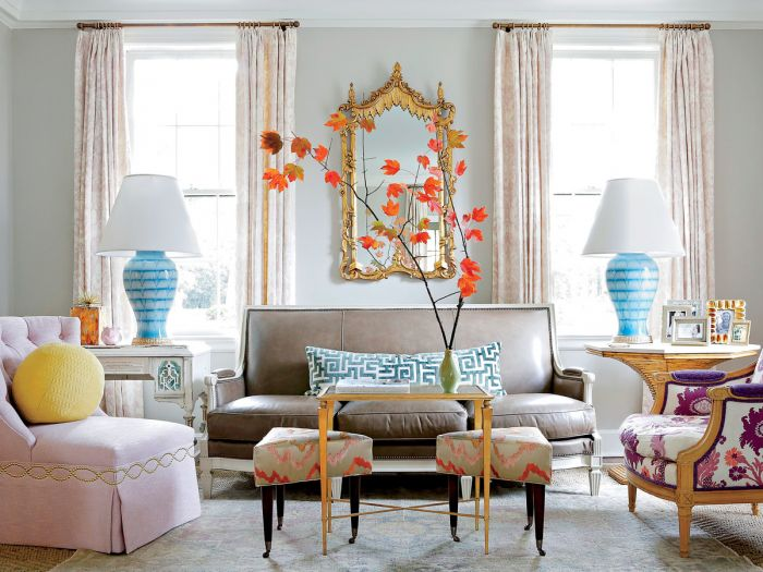 A balance of pastels and brighter, more saturated colors gives this space dimension. (blog.gotomalls.com)