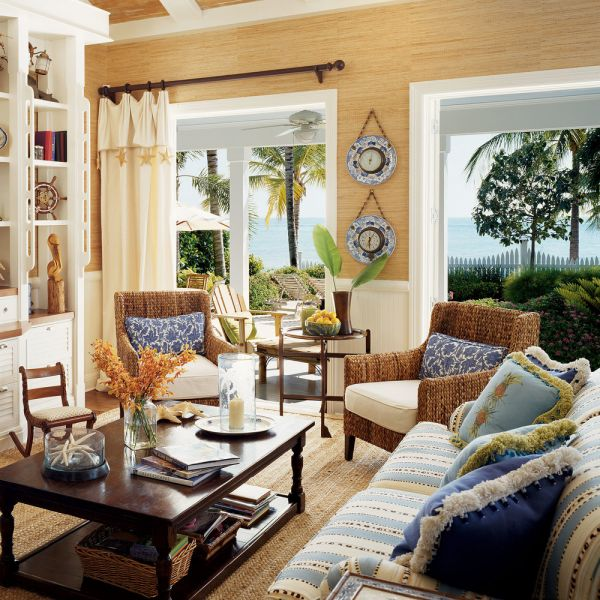 Bring in natural elements to enhance the island vibe (Coastal Living)
