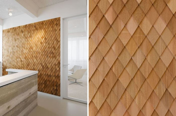This wood accent wall creates texture (conteporist.com)