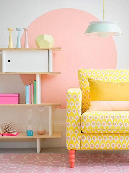 A variety of pastels makes for a lively space. (Decoist.com)