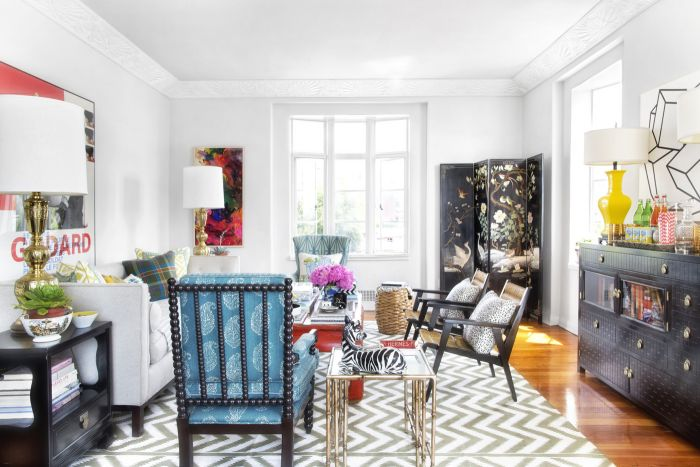White is a great backdrop for bursts of color (dorisleslieblau.com)