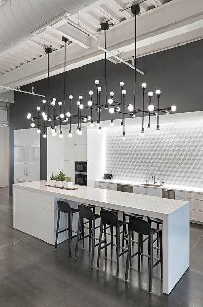 Select kitchen island lighting that speaks to your interior style (Pinterest)