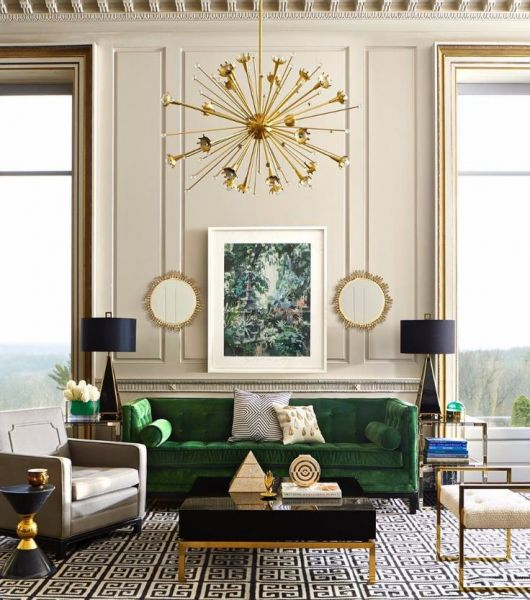 Touches of brass bring elegance to this room (Pinterest)