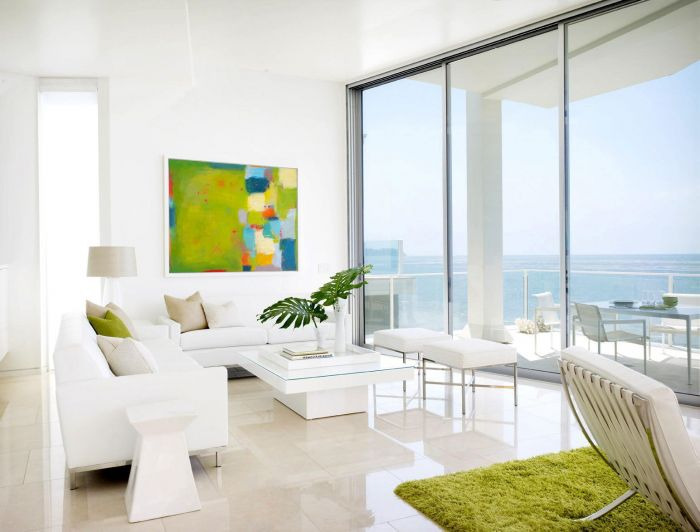 Lime green invigorates this serene white space (sdcnursing.com)
