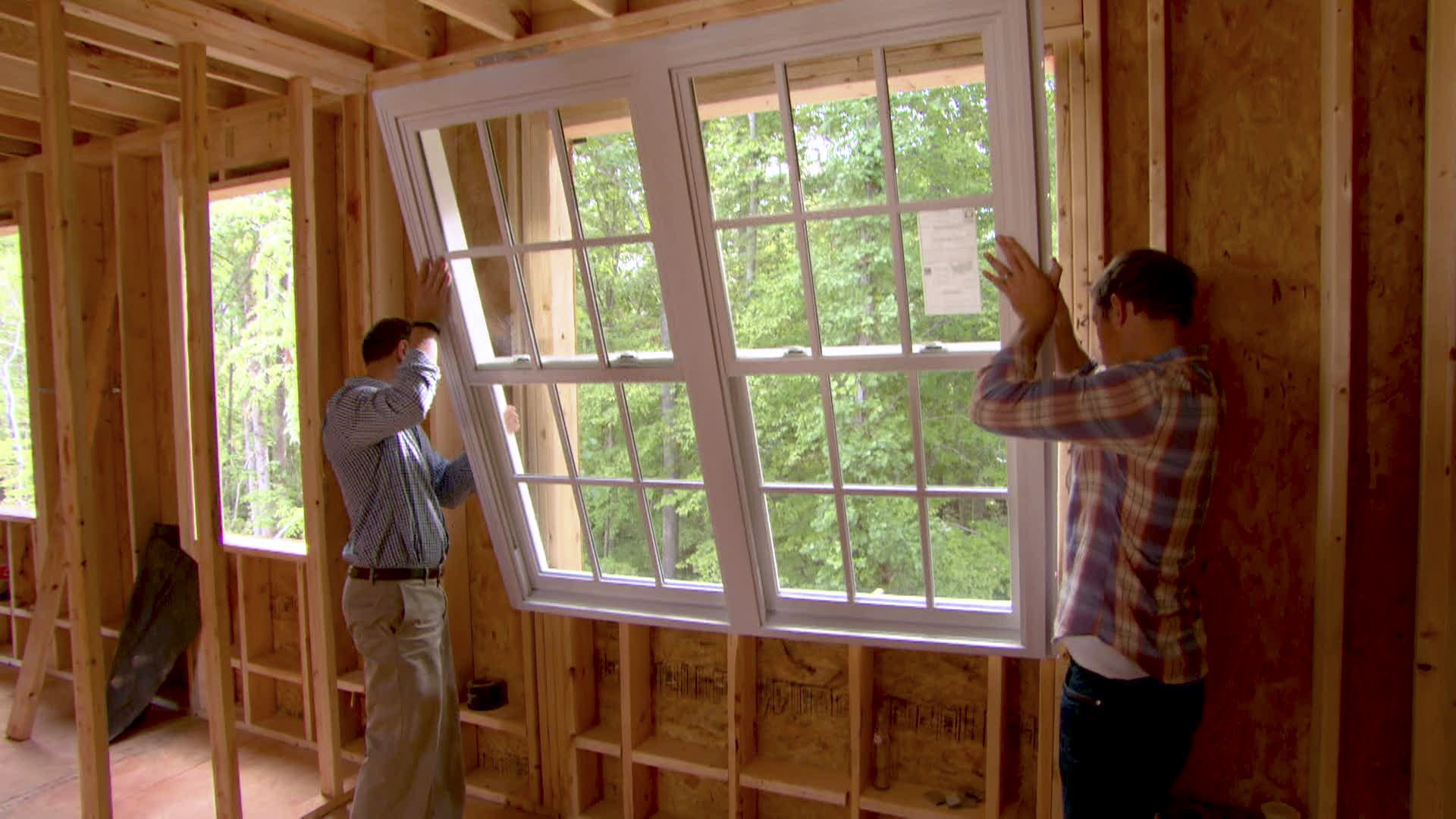 Chris Lambton helps install windows, plumbing and roofing in HGTV Smart Home 2016.