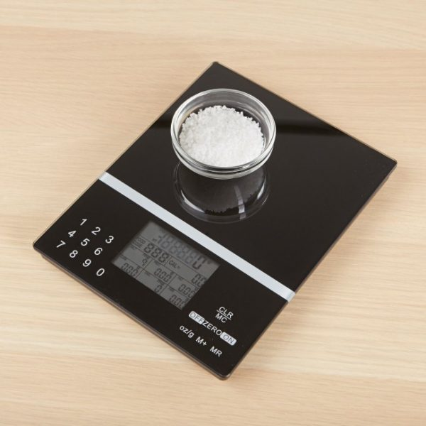 KSP Nutritional Glass Digital Kitchen Scale (Black)