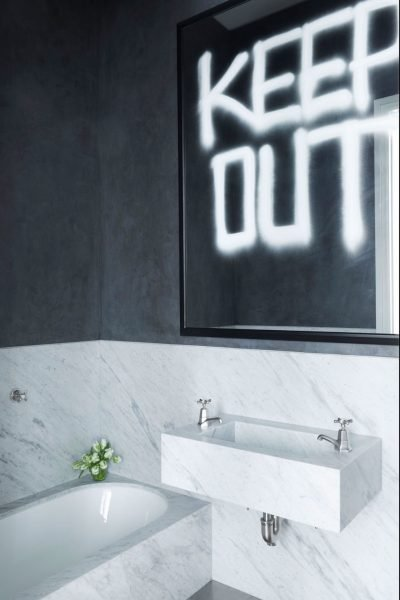 The Spray Paint Modern Bathroom - Small Bathroom ideas