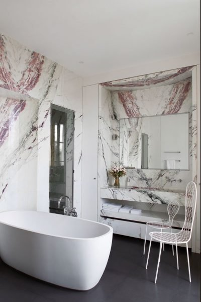 Pink Marble - Small Bathroom ideas