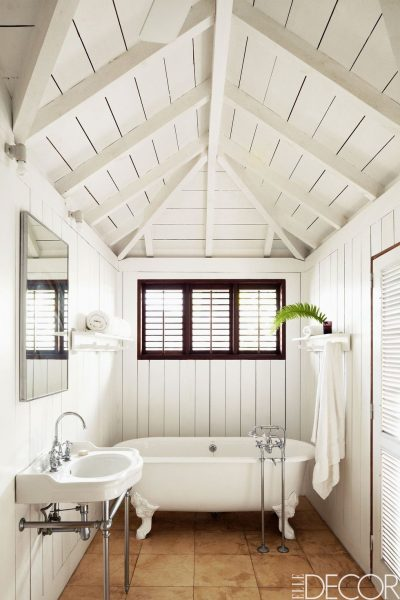 Beachy White Bathroom